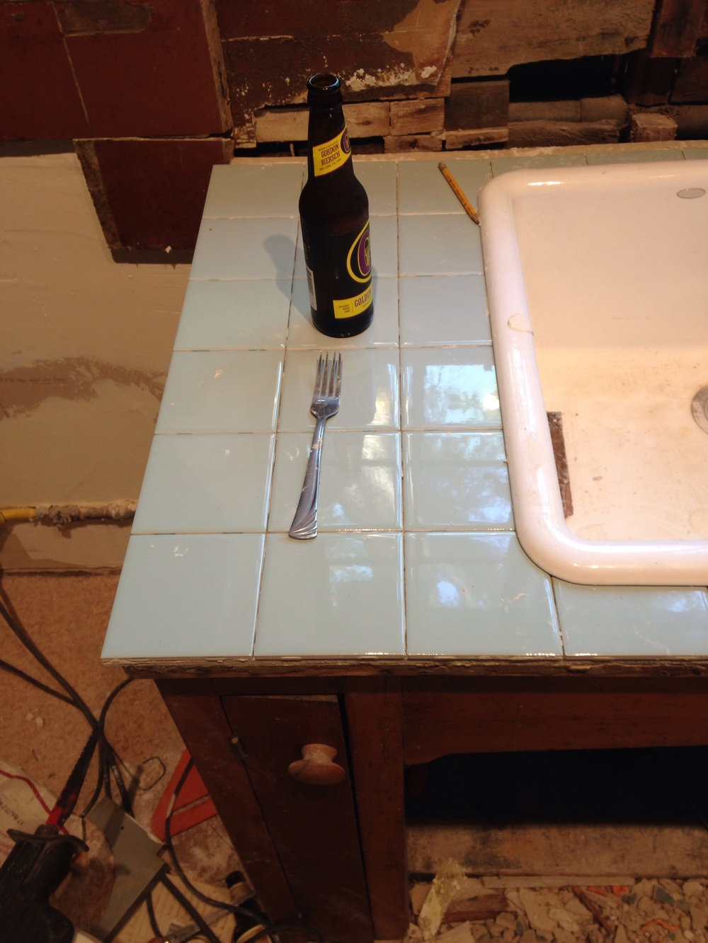 "I used the built in spacers for a 1/16"" grout joint. If you push the tiles close together there's an automatic grout space"