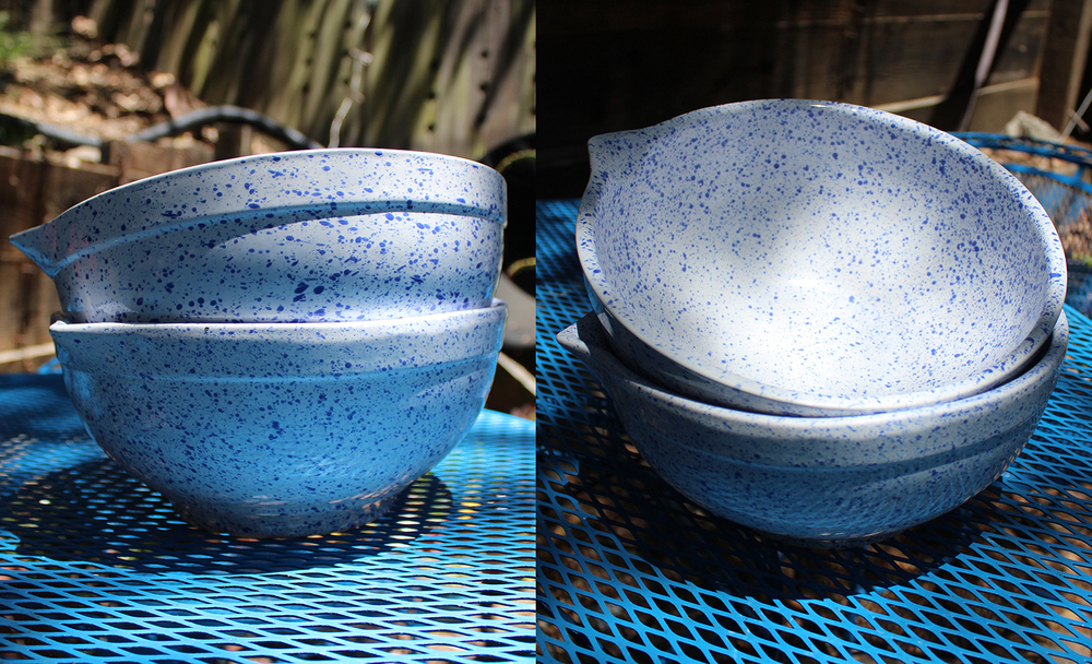 splattered mixing bowls for $5.50/each