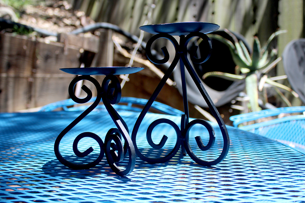 cast iron candle holders for $3/each