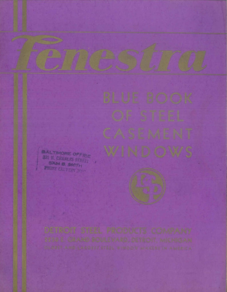 1933 Fenestra catalog
