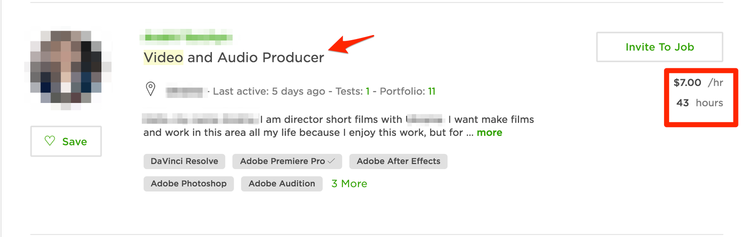 video production upwork driving price down on digital