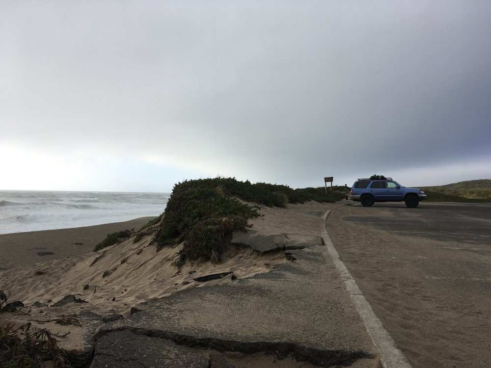 Virga, my 4Runner, on the South Beach of Point Reyes on my 30th birthday.