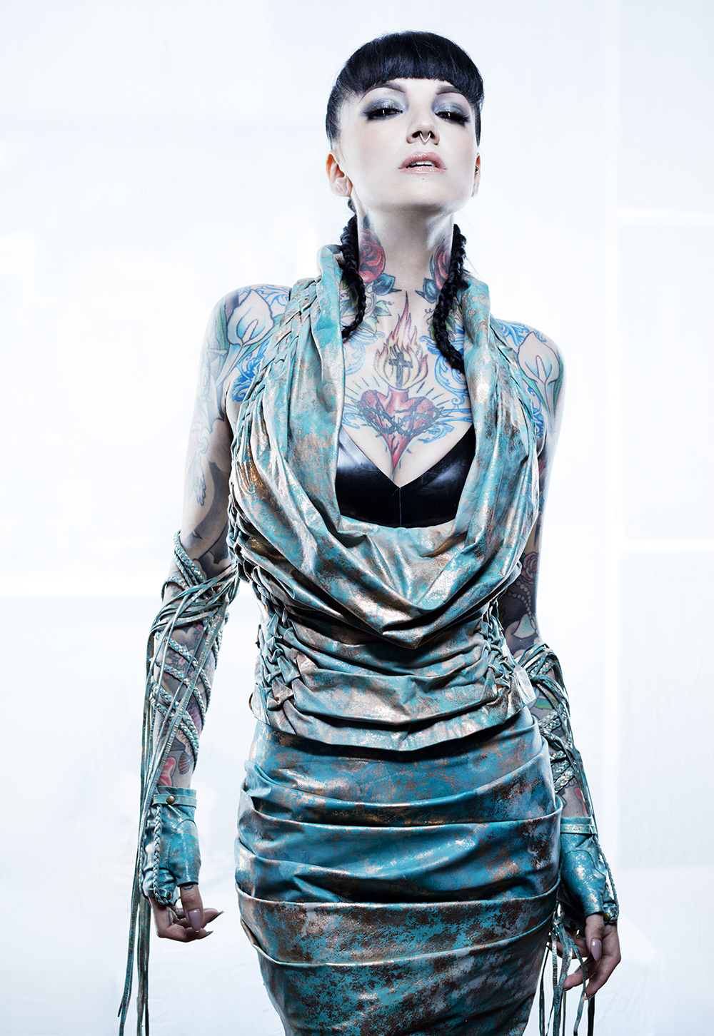 Verdigris Couture Leather