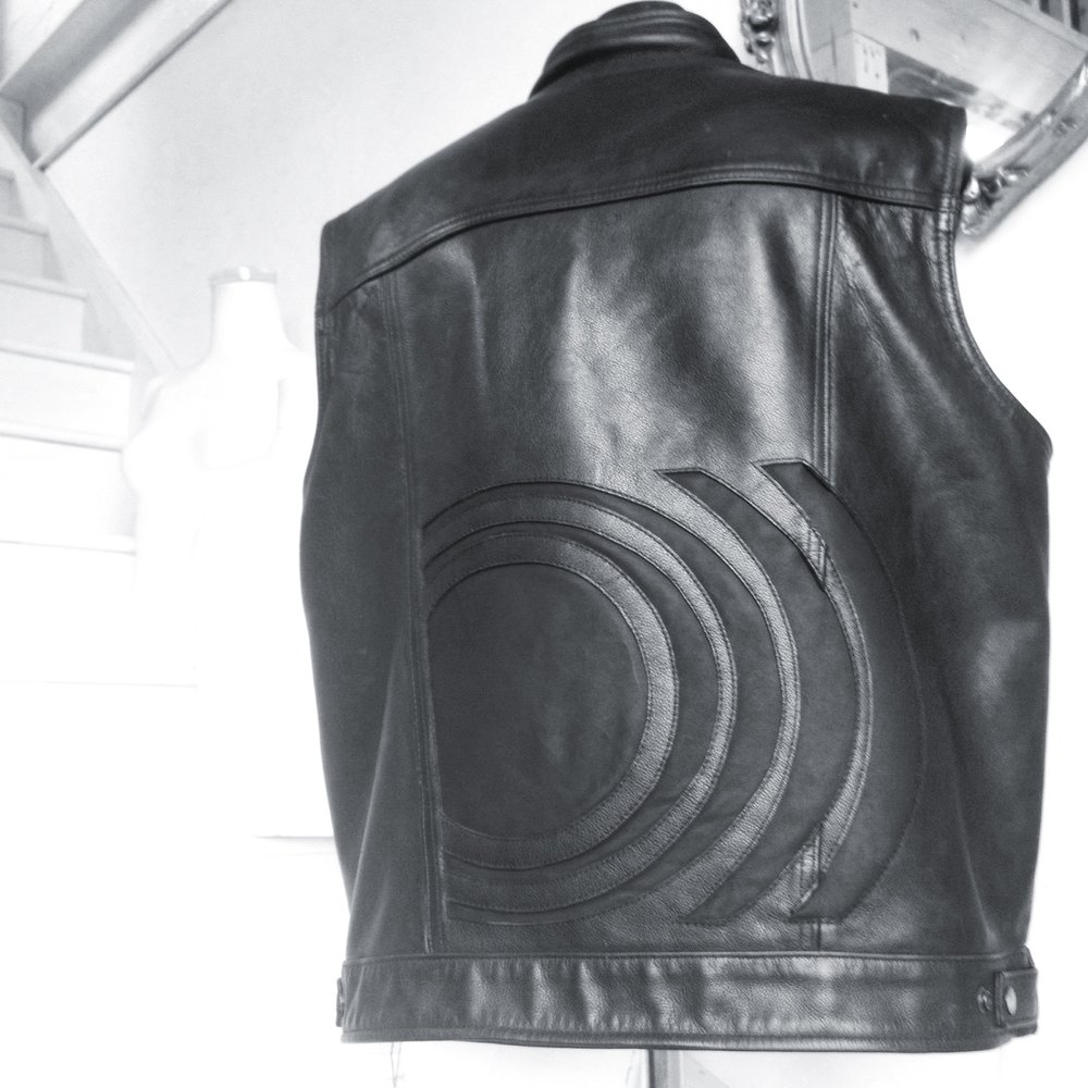 custom leather for Stephen O'Malley of Sunno)))