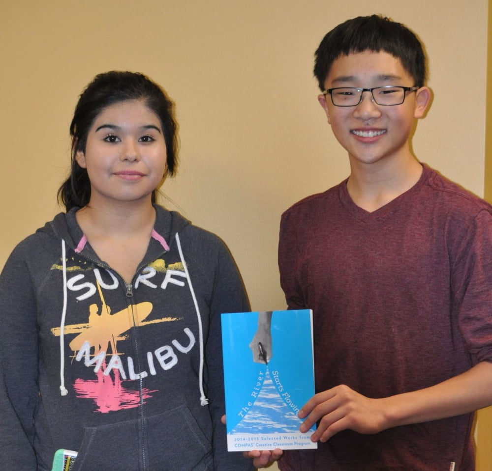 photo by Mikell Melius. Eighth-graders Savannah Ybarra and Ethan Steiger