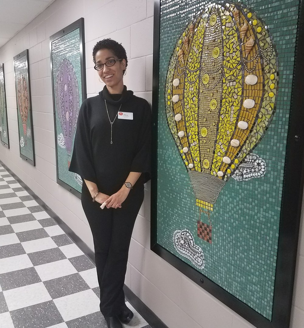 Community created mosaics - with teaching artist Mica Lee Anders