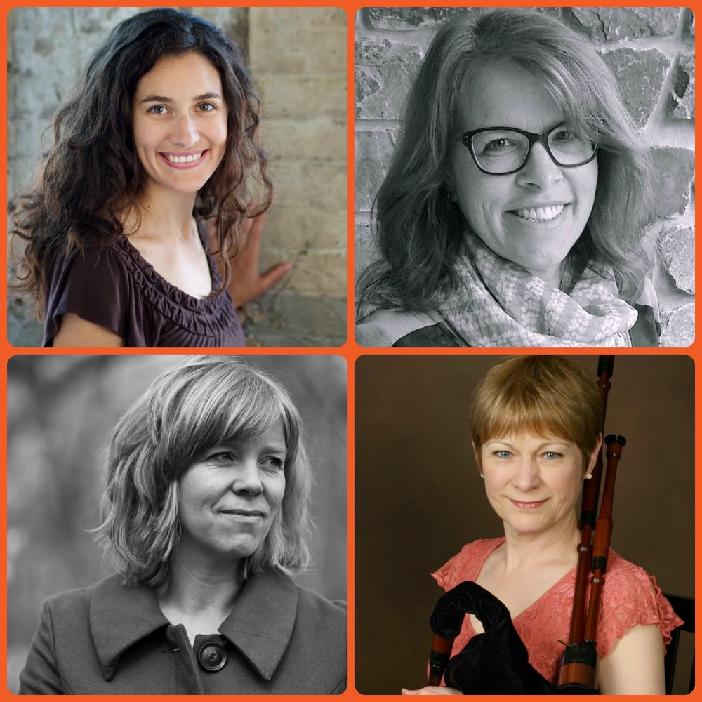 COMPAS artists Taous Khazem, Kimber Olson, Rachel Moritz and Laura MacKenzie. All recently received Artist Initiative grants from the Minnesota State Arts Board.