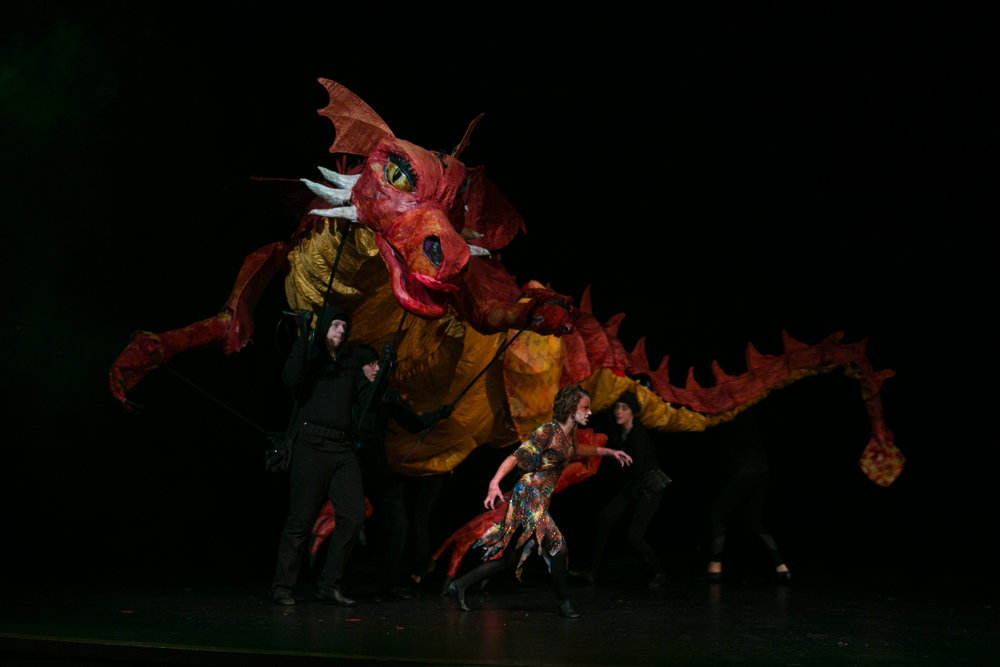 Example of puppet dragon designed by Christopher