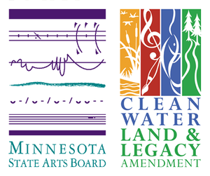 "Made possible by the Minnesota State Arts Board ""Arts Learning"" grant"