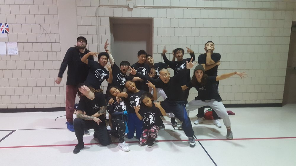 BRKFST - with their dancing students!