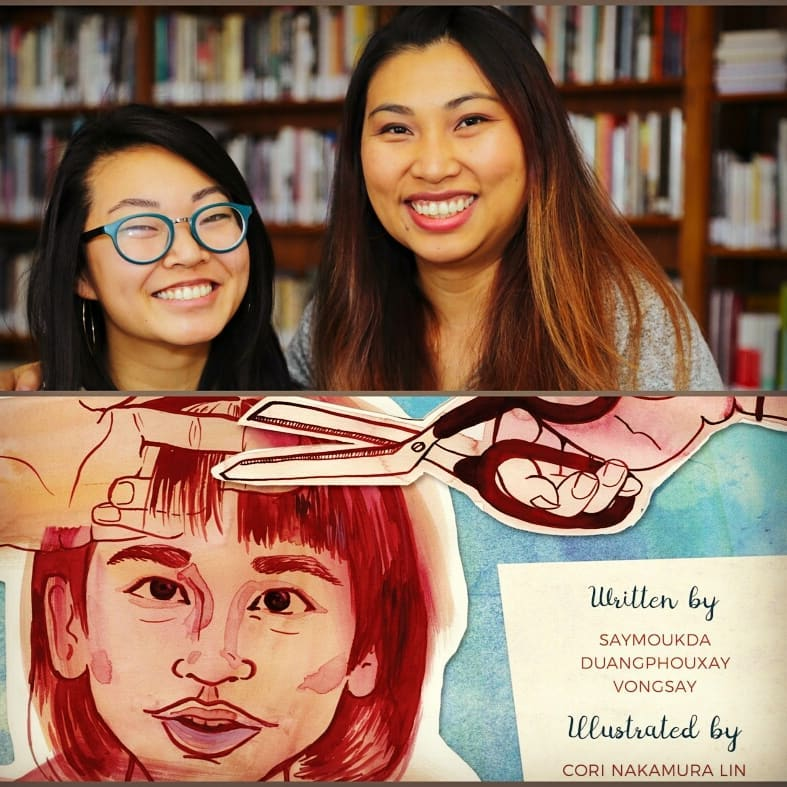 Saymoukda Vongsay with illustrator Cori Lin