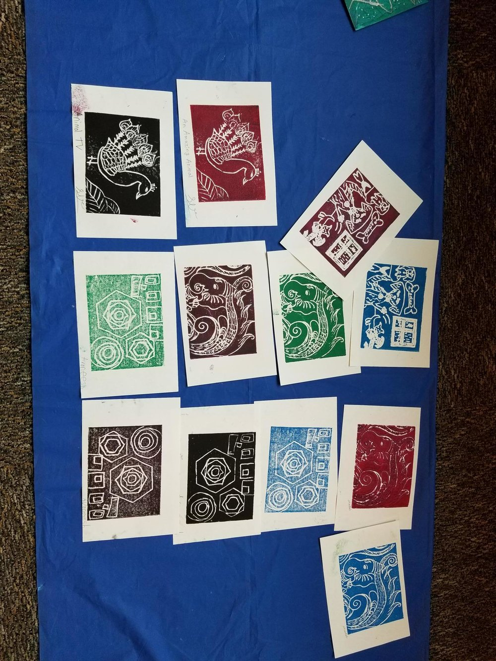 Examples of Block Printing