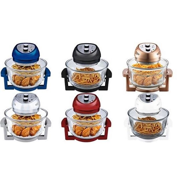 Oilless Fryers from our Big Boss line, now available in six different colors! #oilfree