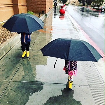 Rainy Day in LA with BetterBrella! ☔️ Blanket protection against the weather!
