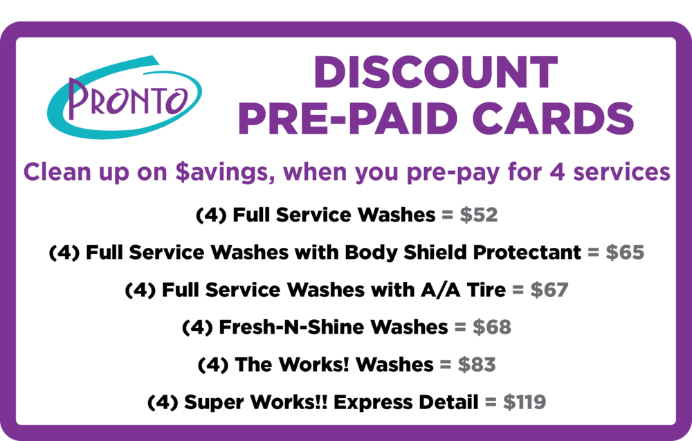 Pronto Discount Pre-paid Card