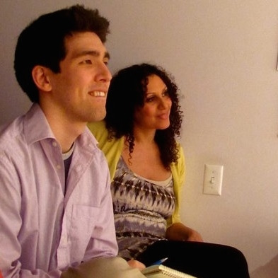 Katie teaching former TA Masa Gibson