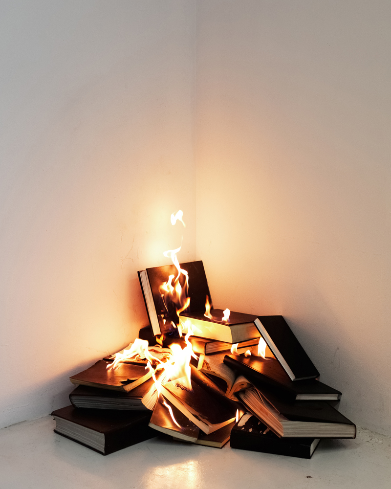 Untitled (Book Burning), 2015