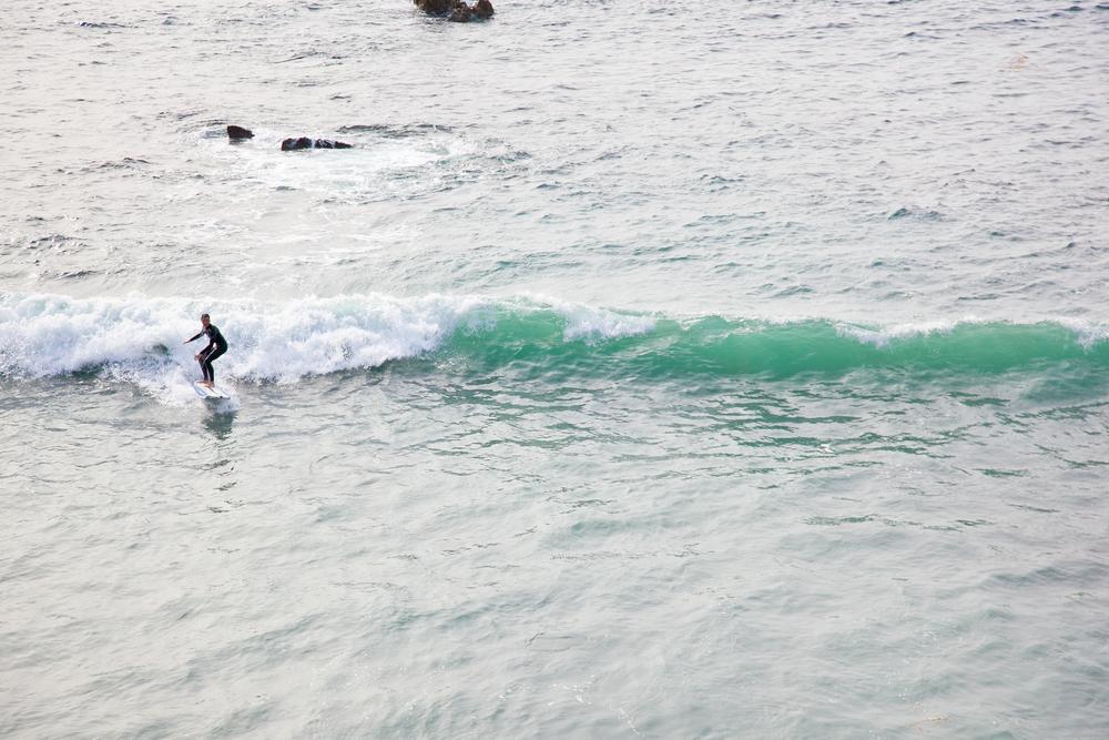 Surfer in Laguna Beach