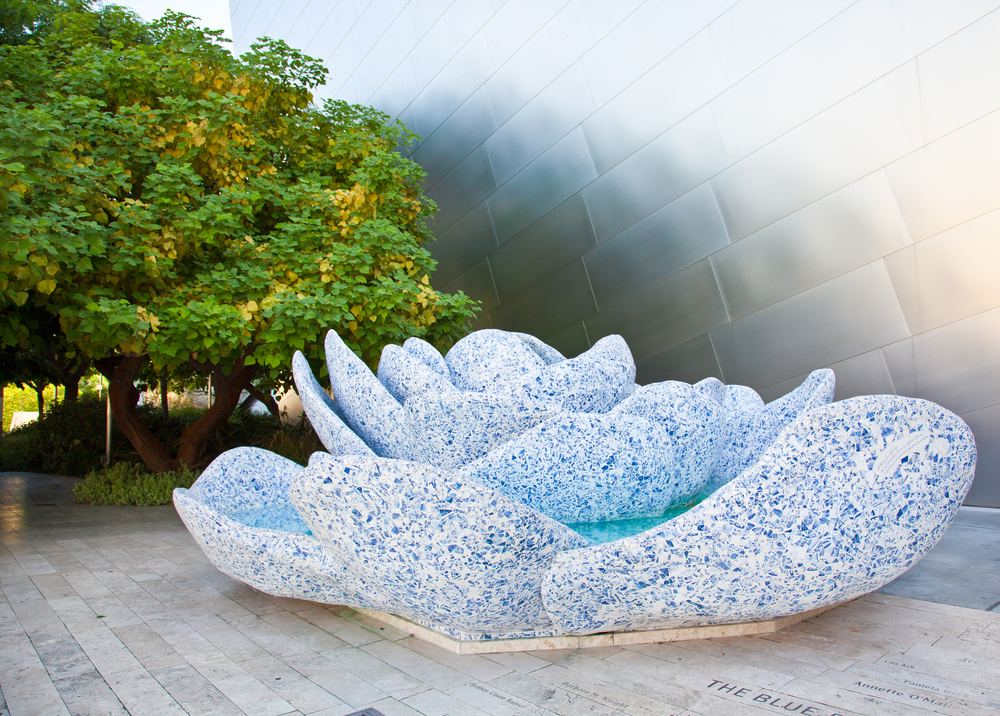 The garden at the Walt Disney Concert Hall