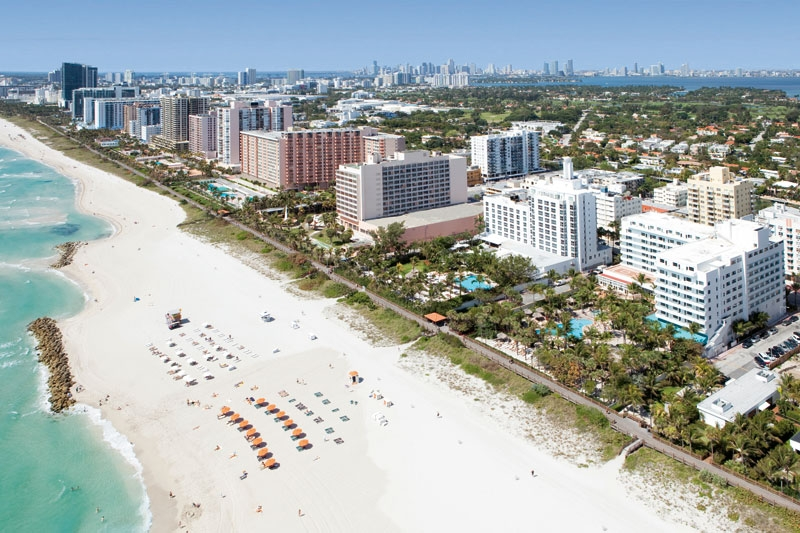 Aeriall view of  South Beach