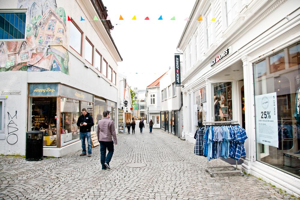 Stavanger'da Alışveriş