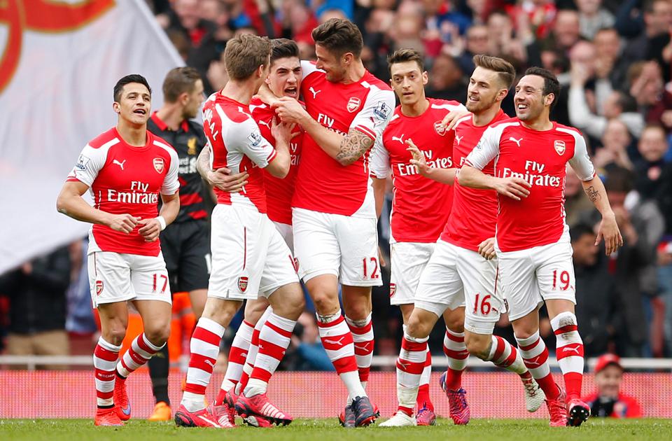 Arsenal FC at the Emirates Stadium, London
