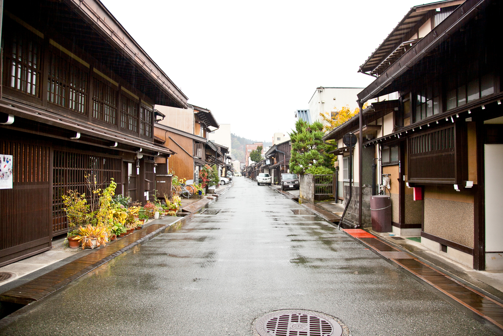 The beginning of the preserved districts of  Takayama