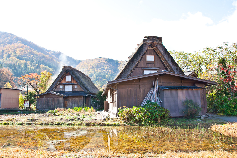 "Shirakawa-go  is known for its gassho style farmhouses. Gassho meas ""hands in prayer"""
