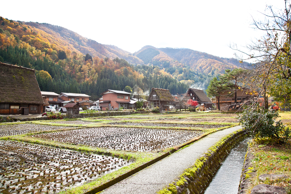 The Ogimachi village of Shirakawa-go can be toured on foot in thirty minutes