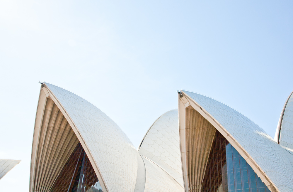 The arches of Sydney Opera House at midday