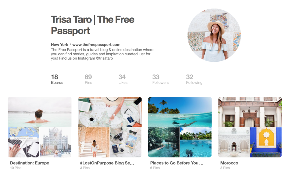 The Free Passport travel blog on Pinterest