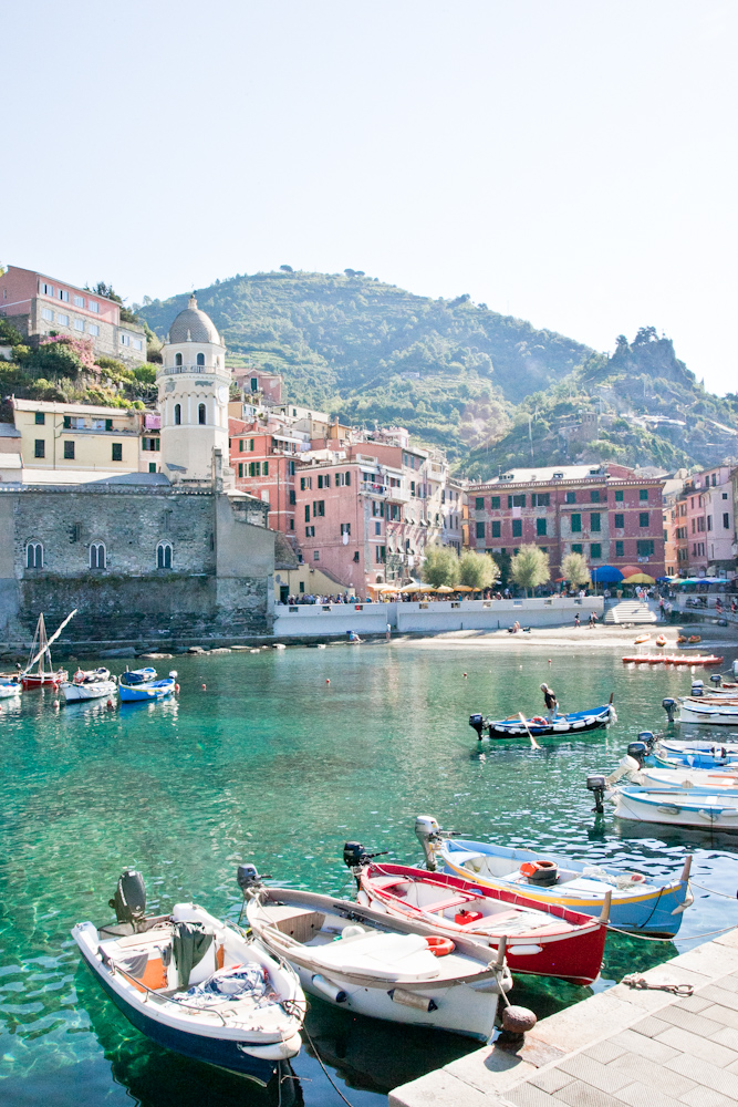 The marina in the town of Vernazza