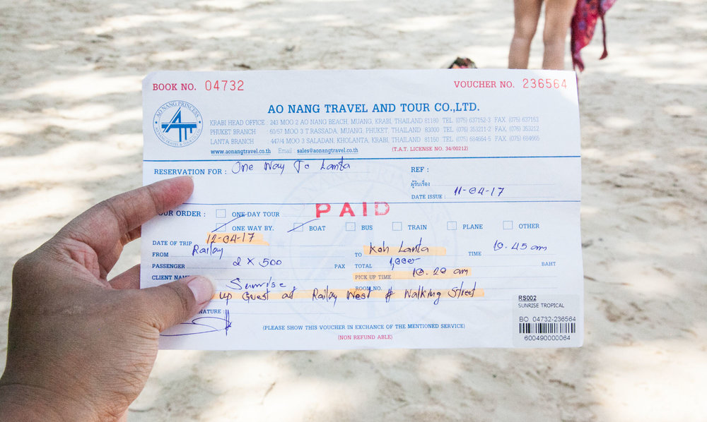 Passenger ferry ticket via Ao Nang Princess