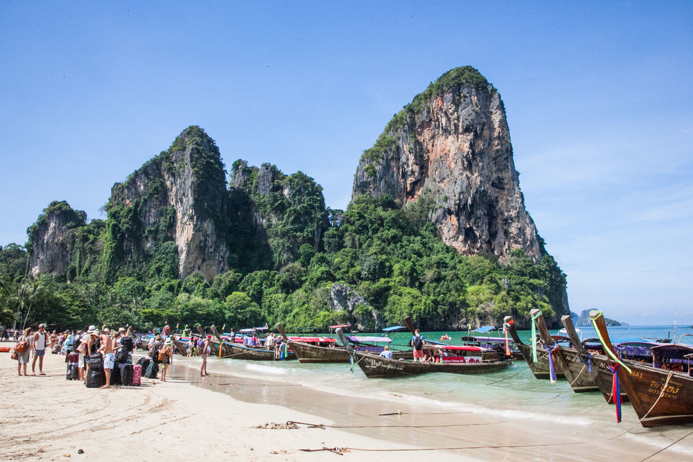 Departure point on Railay Beach West
