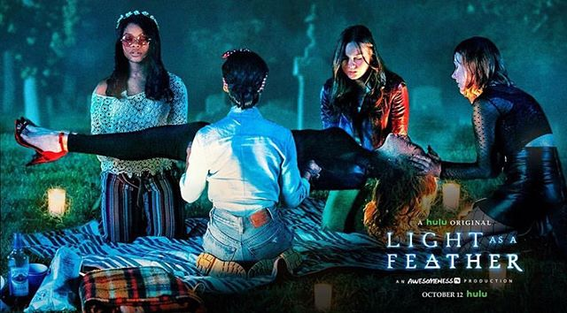 Come play LIGHT AS A FEATHER, Stiff As A Board on October 12! @hulu @awesomenesstv #grammnetproductions @wattpad #lightasafeather #tv