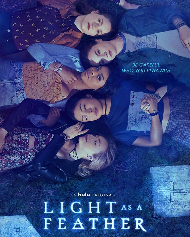 Best birthday present ever! Really proud of this one! A dream working with this crazy talented cast and crew! Check out #LightAsAFeather @hulu now streaming! 🦋