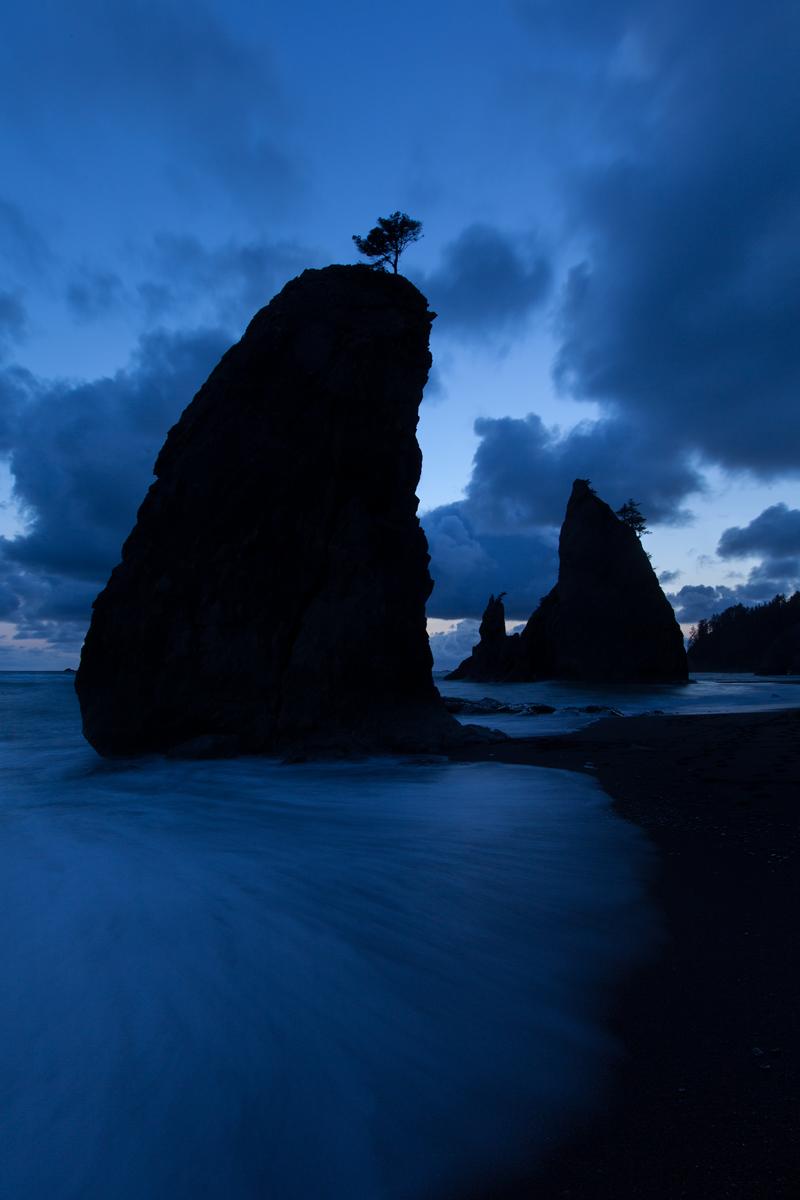 Split Rocks at Rialto Beach in Olympic National Park, USA.  Image ©Connor Stefanison