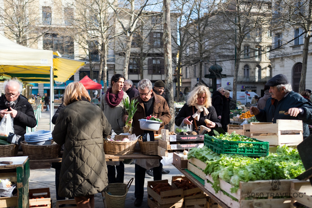 Market at Gambetta Square
