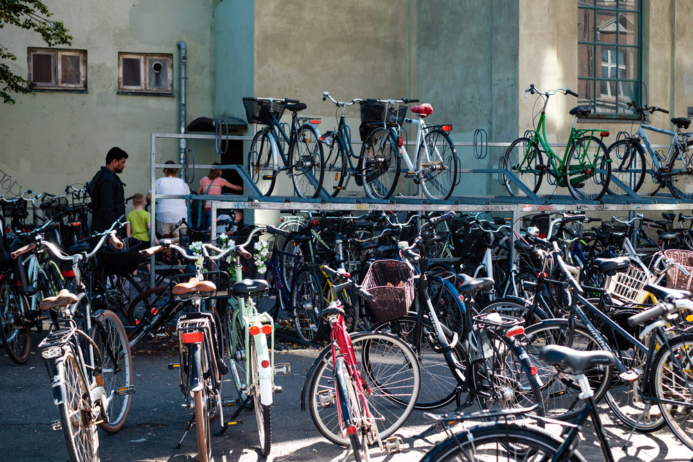 Bicycle parking in Copenhagen,  Denmark    FUJIFILM X-Pro2, XF 35mm f/1.4 R