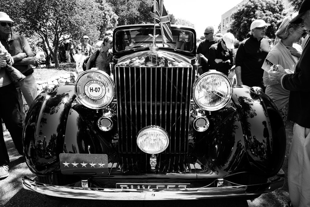 A vintage Rolls Royce at Pebble Beach Concours