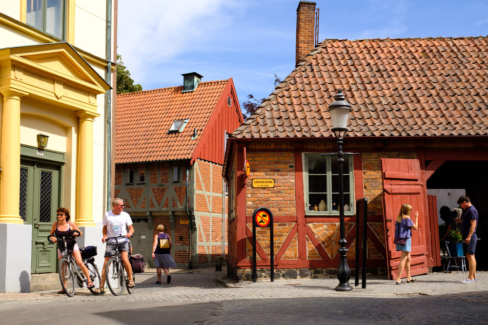 We are big fans of the Swedish TV crime series, Wallander. It is set and was filmed in and around the city of Ystad, on the southern coast of Sweden.