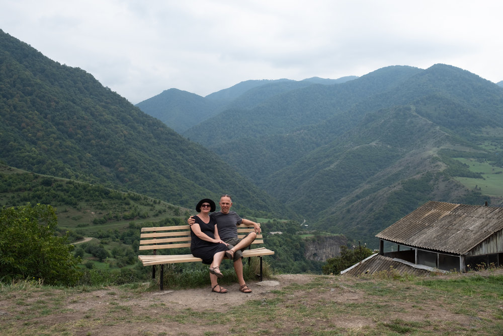 A couple in their fifties traveling to Northern Armenia