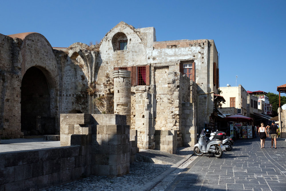 Castle of the Old Town in Rhodes, Greece