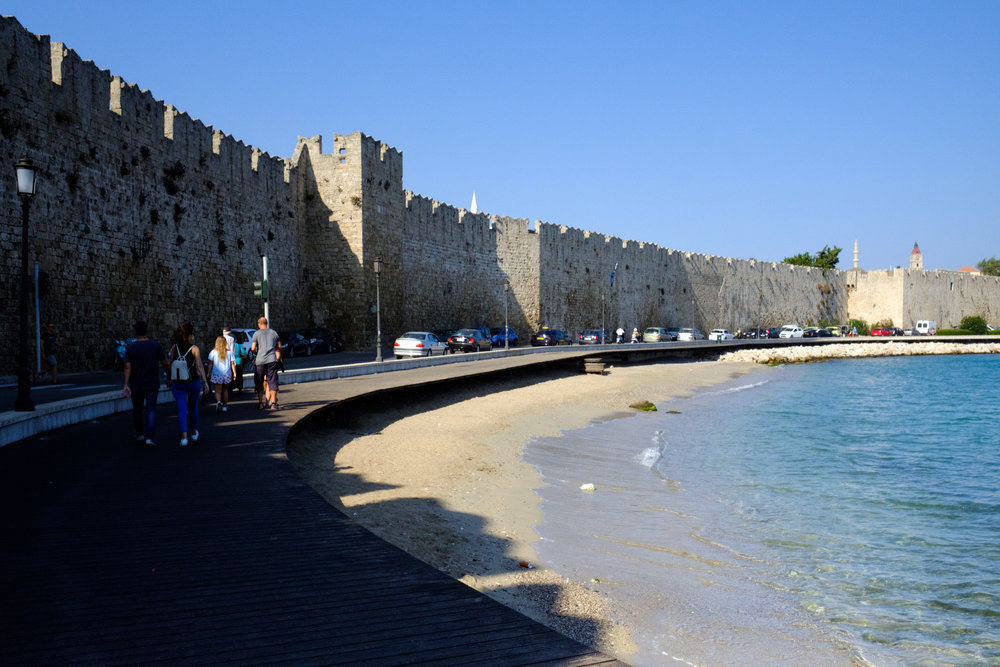 Castle of the Old Town in Rhodes Greece