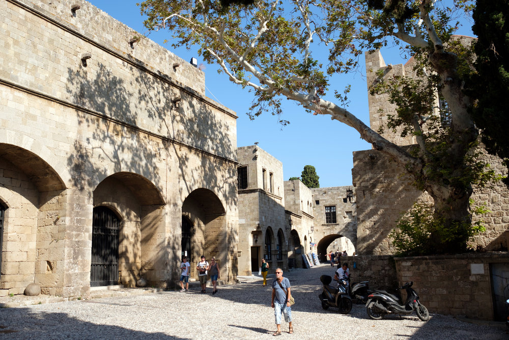 Exploring in the Old Town of Rhodes, Greece