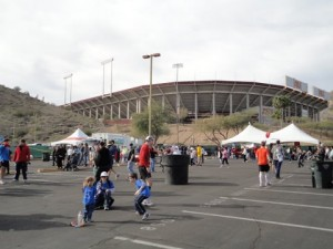 The stadium where we finished
