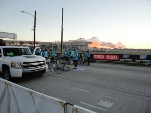 Course cyclists getting ready!