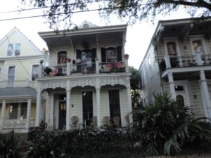 Beautiful Homes (and Mardis Gras flags)