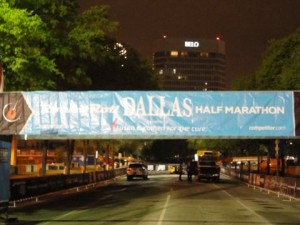 The Dallas Rock n' Roll Half Marathon start line!