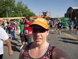 A sweaty runner!